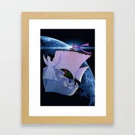 Bateau pirate Framed Art Print