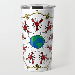 Crawfish Mandala Travel Mug