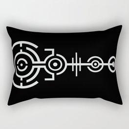 Crop Circle - White Rectangular Pillow