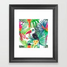 Tropical Gathering Framed Art Print