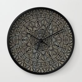 Circle of Life Mandala Brown and Blue Wall Clock