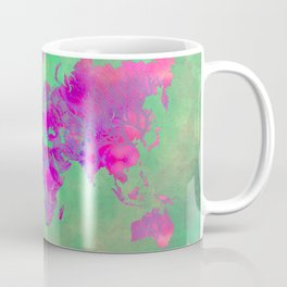 world map 117 green purple #worldmap #map Coffee Mug