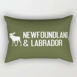 Newfoundland and Labrador Moose Rectangular Pillow