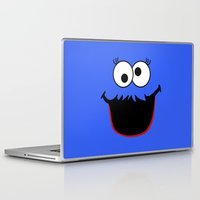 elmo Laptop & iPad Skins featuring Gimme Those Cookies Girl! by Alli Vanes