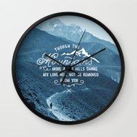 pocketfuel Wall Clocks featuring NOT SHAKEN by Pocket Fuel