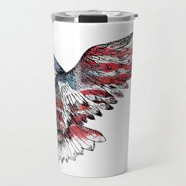 Watercolor bald eagle symbol of the United States Travel Mug
