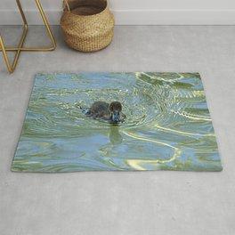 Little Black Duckling Swimming Rug