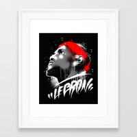 lebron Framed Art Prints featuring Lebron J by squadcore