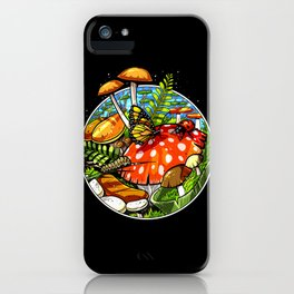 Magic Mushrooms Fungi Psilocybin Shrooms iPhone Case