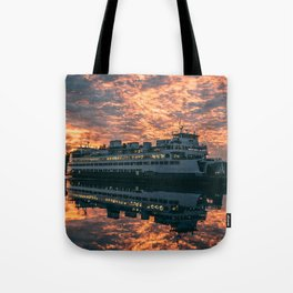 Friday Harbor Ferry Tote Bag