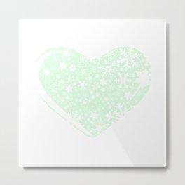 Christmas Heart Background Metal Print