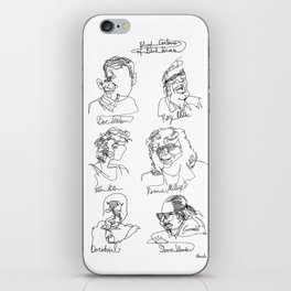 Blind Contours, Blind Heroes iPhone Skin