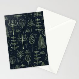 magical forest pattern Stationery Cards