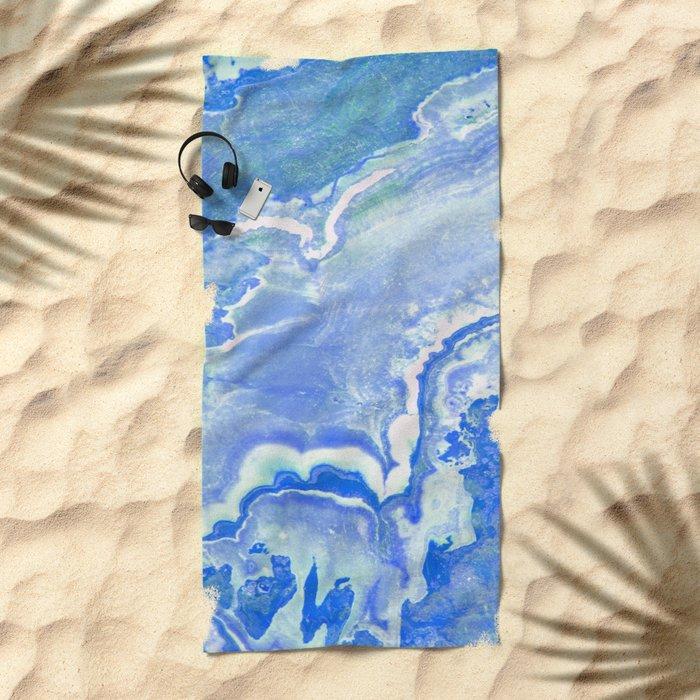 Blue onyx Beach Towel