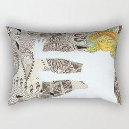 Durga  (Goddess of India dancing with henna hands) Rectangular Pillow