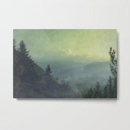Mist over valley - view of Valmalenco / Italy Metal Print