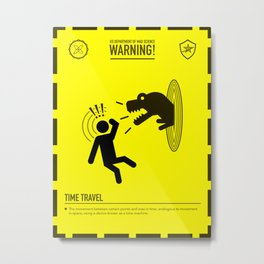 Mad Science: Time Travel Metal Print