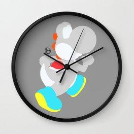 Yoshi(Smash)White Wall Clock