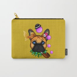 Drunk Dog (yellow) Carry-All Pouch