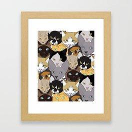 Cat takeover Framed Art Print