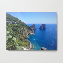 Isle of Capri Coastline Metal Print