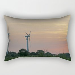 ad solis occasum ventus turbines ab Horumersiel Rectangular Pillow