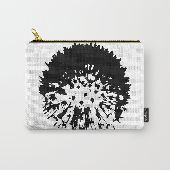 Dandelion [black on white] Carry-All Pouch