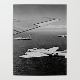 B-17F Flying Fortress Bombers over the Southwest Pacific Poster