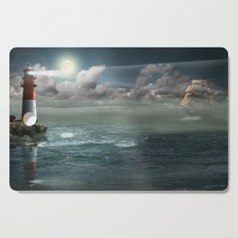 Lighthouse Under Back Light Cutting Board