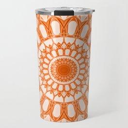 Flower Mandala serie orange Travel Mug