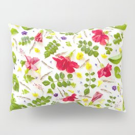 Leaves and flowers pattern (30) Pillow Sham