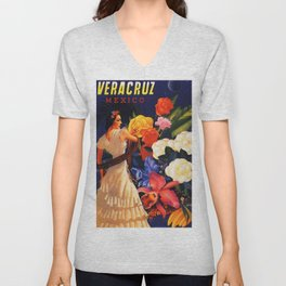 Veracruz Travel Poster Unisex V-Neck