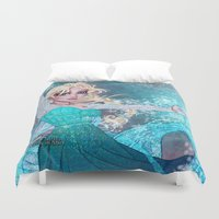 frozen elsa Duvet Covers featuring Frozen Elsa by Teo Hoble