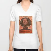 lebowski V-neck T-shirts featuring Lebowski Pop by Guido prussia