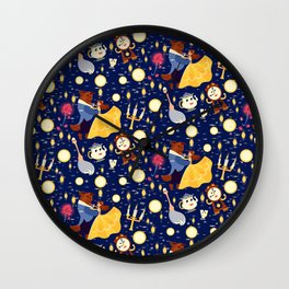 Be Our Guest Pattern Wall Clock