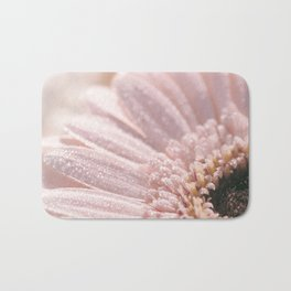 Light Pink floral Daisy Flower with water droplets- flowers Bath Mat