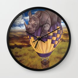 When Rhinos Fly Wall Clock