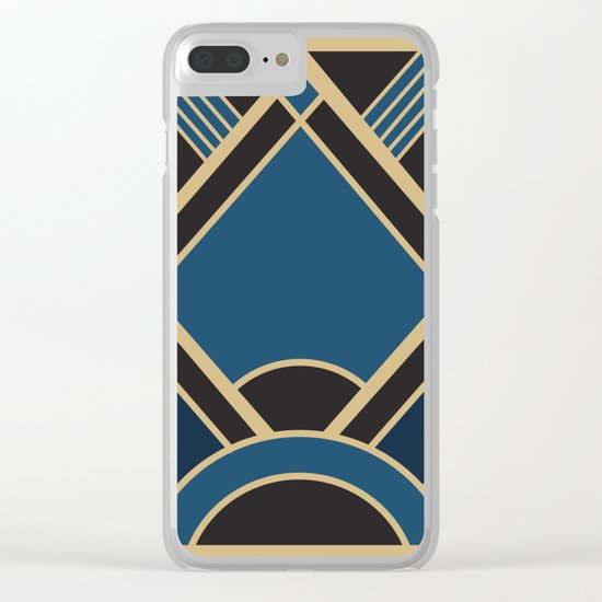 Art Deco New Tomorrow In Blue Clear iPhone Case