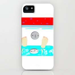 Soaking in the Tub with Red Wallpaper iPhone Case