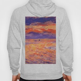 "Auguste Renoir ""Sunset at sea"" Hoody"