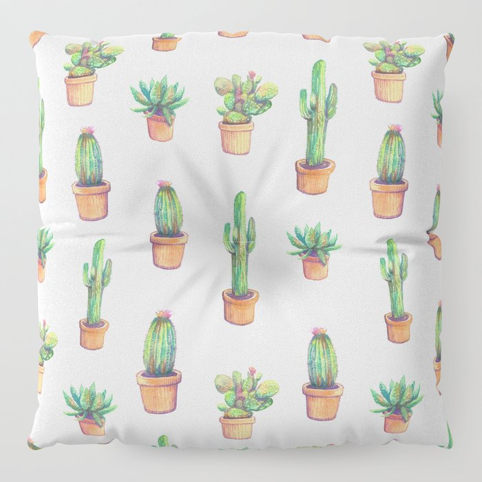 my old caactus are back Floor Pillow