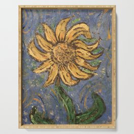 Dancing Sunflower Serving Tray