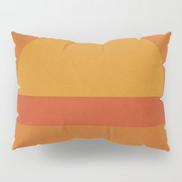 Retro Geometric Sunset Pillow Sham
