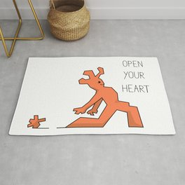 Cute creature practicing low lunge yoga asana Rug