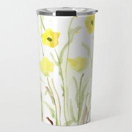 Pretty, Delicate, Happy, Yellow Buttercups Travel Mug