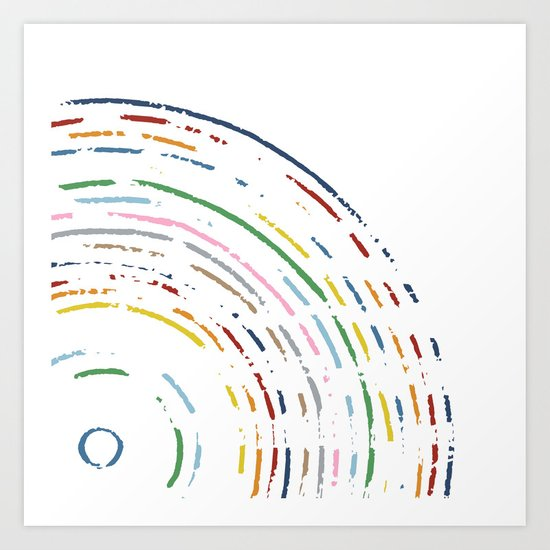 Rainbow Part Disc Art Print