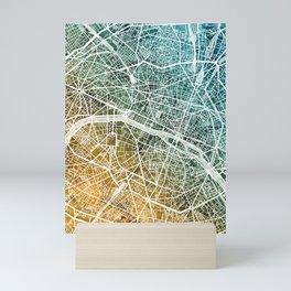 Paris France City Map Mini Art Print
