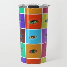 on the roads at night i saw the glitter of eyes Travel Mug