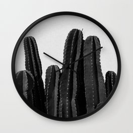 Cactus Black & White Wall Clock