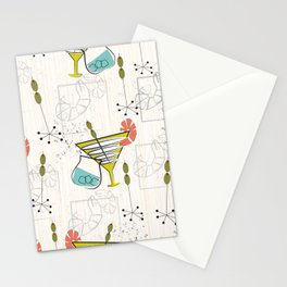 Mid Century Modern Cocktail Hour Stationery Cards